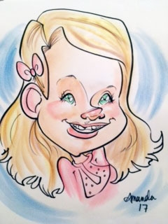 Amanda Swanson Party Caricature