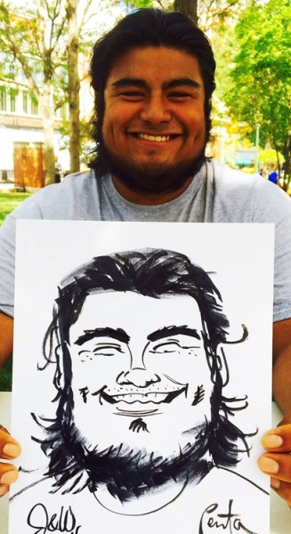 Mark Penta Party Caricature