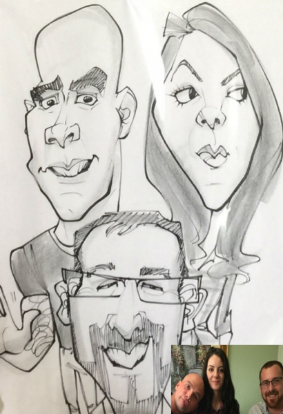 Dianne Nowicki Party Caricature