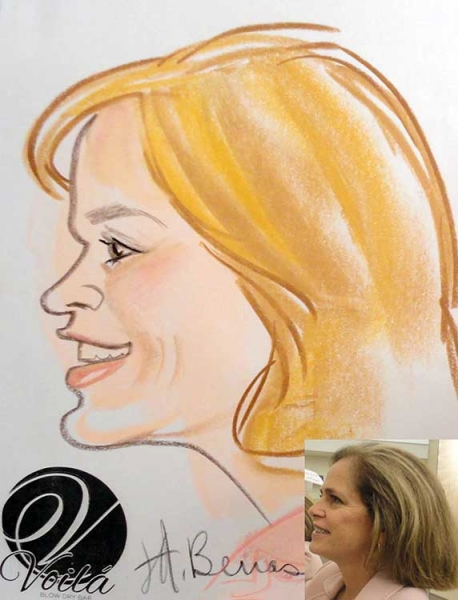 Jeanne Benas Party Caricature