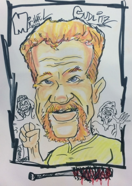 Michael Hraba Party Caricature