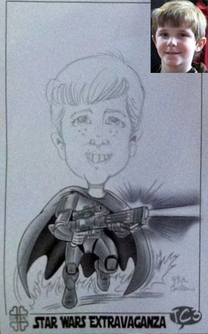 Phil Juliano Party Caricature