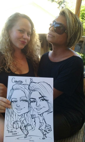 Kerry Manwaring Party Caricature
