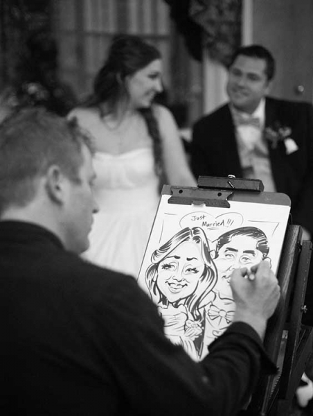 Alex Hughes Party Caricature
