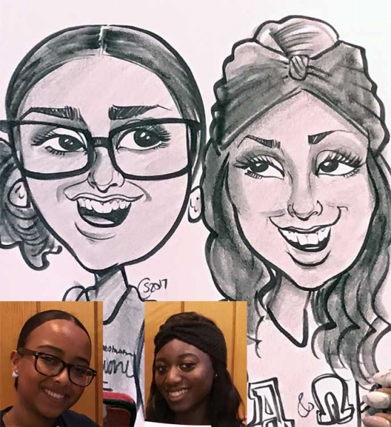 Courtney Sell Party Caricature