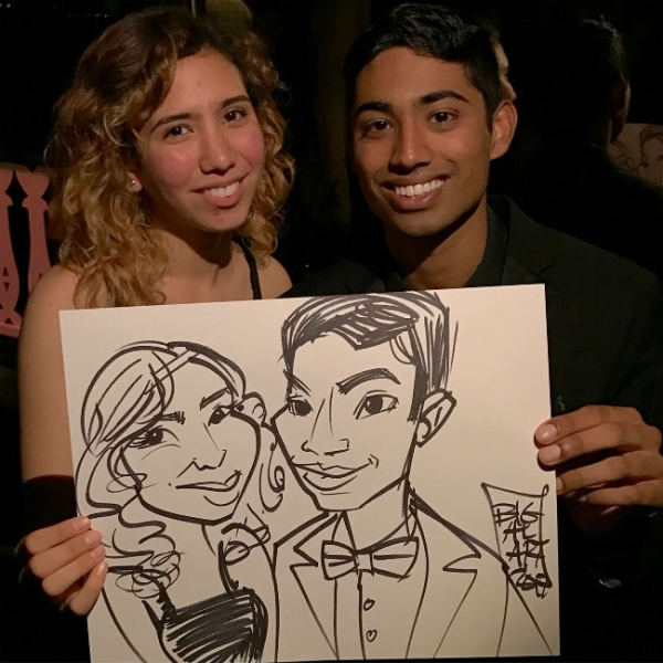 Al Lopez Party Caricature