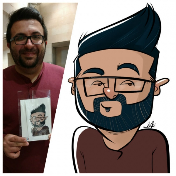 Andrew Mok Digital Party Caricature