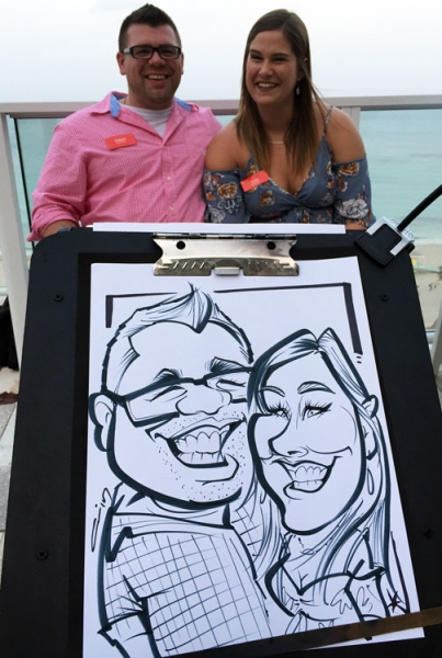 Carlos Ampudia Party Caricature