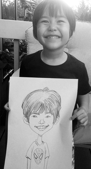 Gabe Ostley Party Caricature