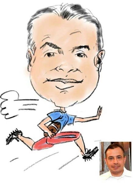 Mike Logsdon Party Caricature