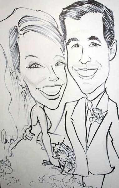 Jim Rehak Party Caricature