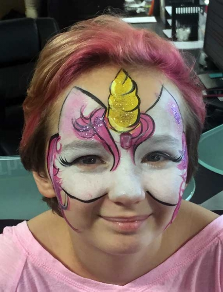 face paint by face painter Kimberly Gonzalez