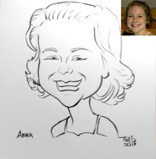 Phil ONeil Party Caricature