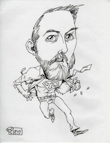 Rufus ZaeJoDaeus Party Caricature