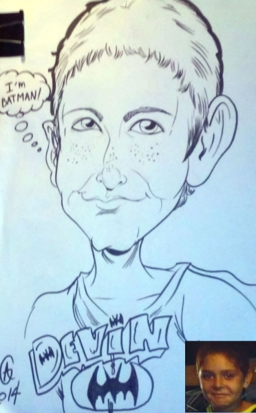 Alex Gentry Party Caricature
