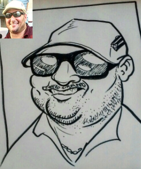 Brandon McPherson Party Caricature