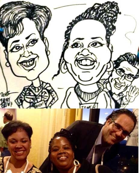 Brent Brown Party Caricature