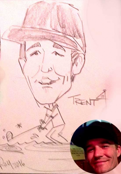 Ray Hofstedt Party Caricature