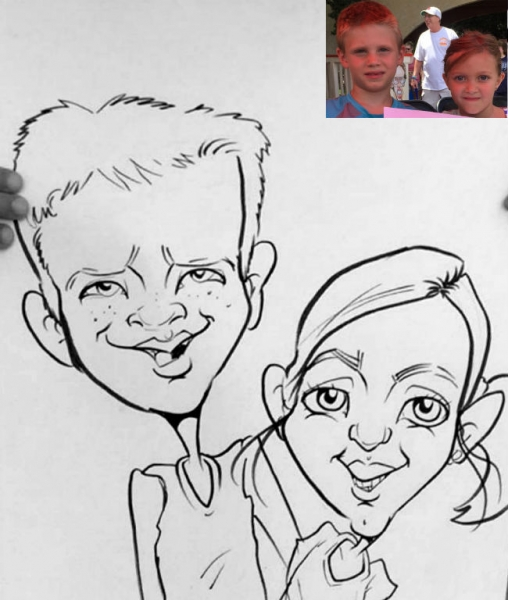 Robin Hull Party Caricature