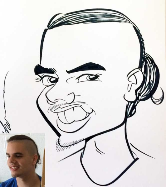 Tracy Latham Party Caricature