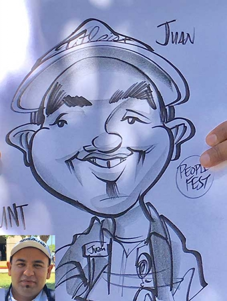 Chris Galvin Party Caricature