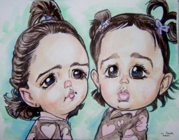 Party caricature by Sam Arneson