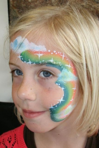 Face painting by Sandra Leathley