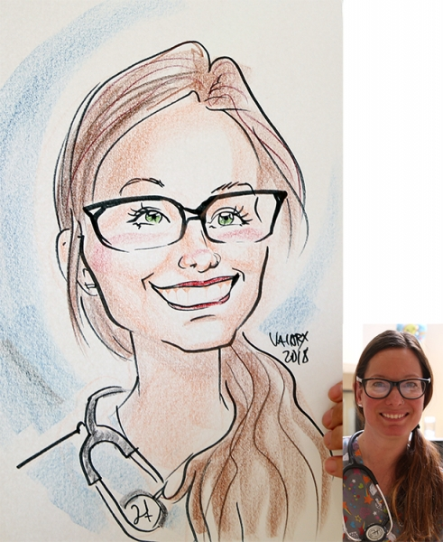 Valory Canfield Caricature Artist