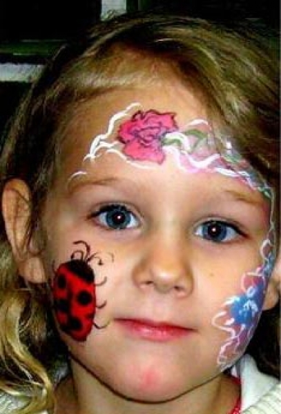 Face painting by Crystal Huber