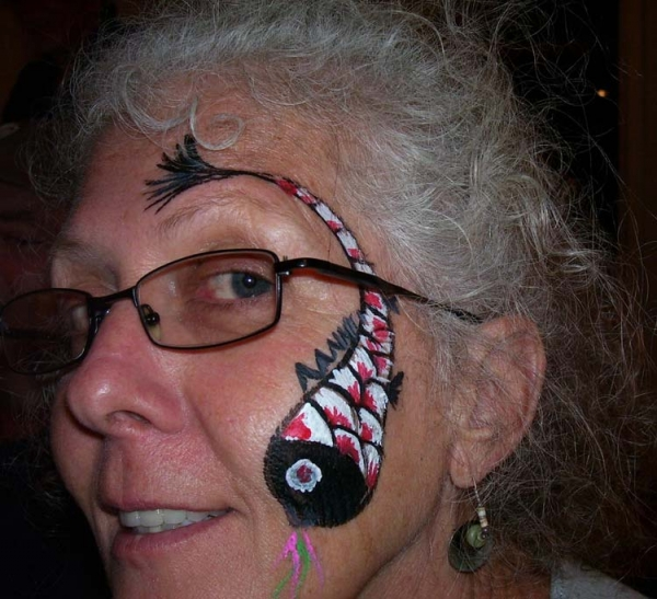 Face painting by Becky Morris
