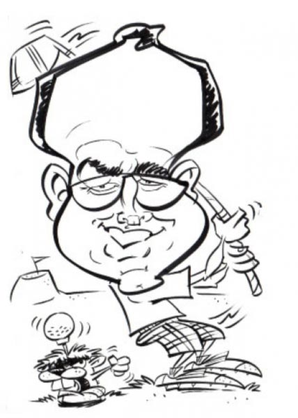 Party  caricature by Rich Barry