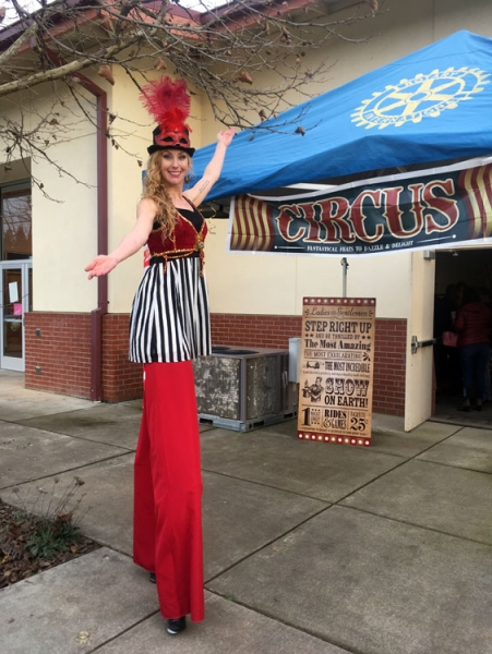 Krysta Cook Stilt Walker