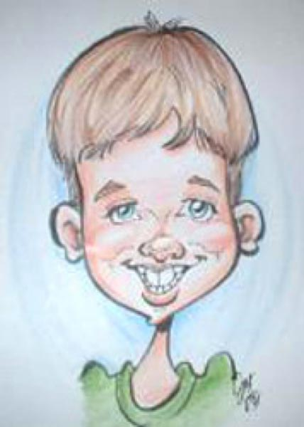 Party caricature by Joy Bartel