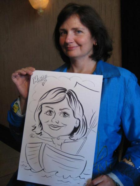 Party caricature by Yvonne Beer