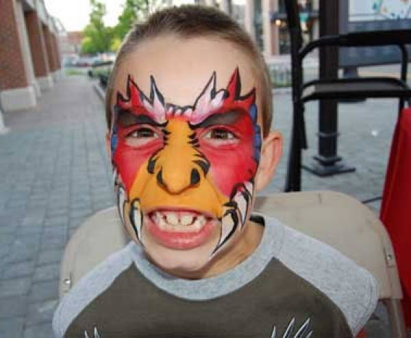 Face painting by Derrick Little