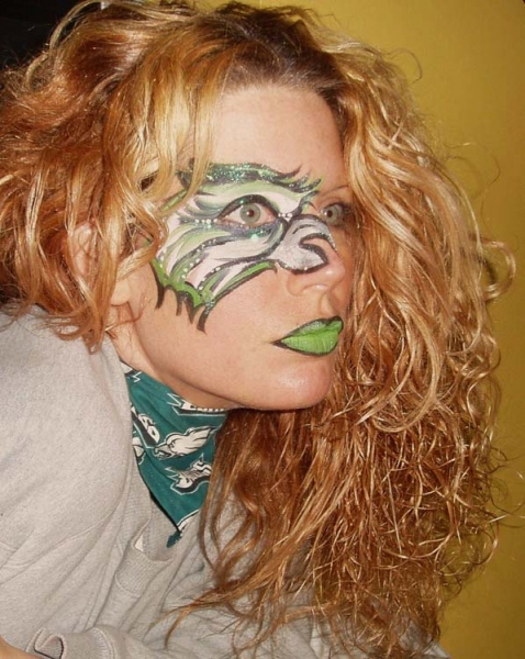 Face painting by Jennifer Montgomery