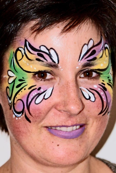 Face painting by Vicki Young