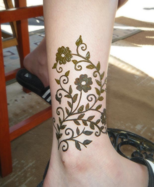 Henna tattoo design by Deena Drewes