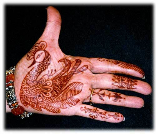 Henna tattoo design by Kamala Chandrasekhar