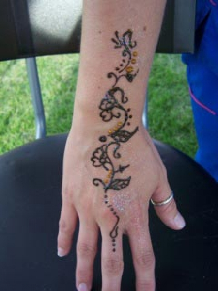 Henna tattoo design by Abbie Lawrence