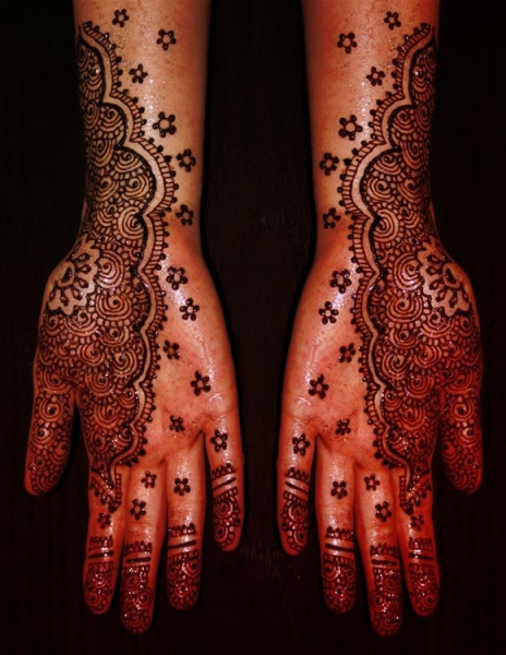 Henna tattoo design by Melissa Ure