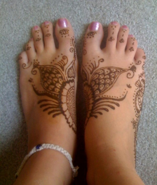 Henna tattoo design by Rachel Clements