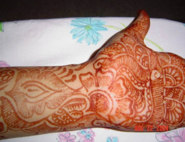 Henna tattoo design by Layma Bharmal