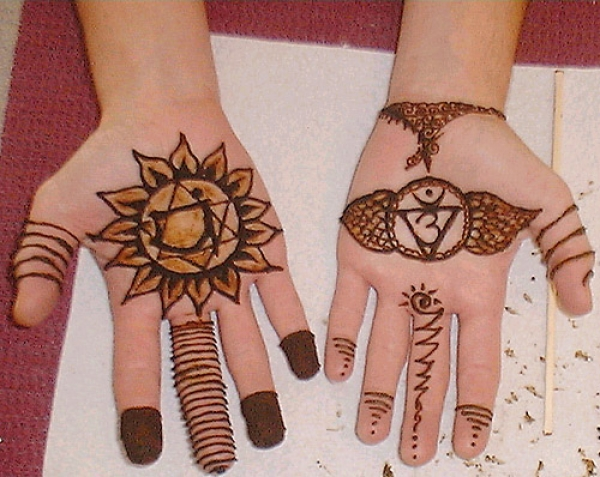 Henna tattoo design by Barbee Cain