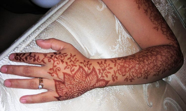Henna tattoo design by Ron Jaffe