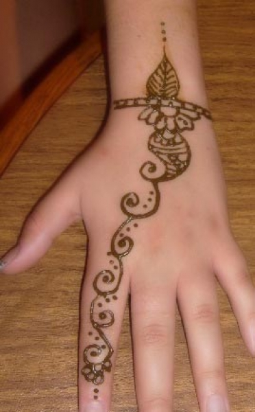 Henna tattoo design by Latha Subramaniam