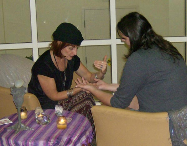Fortune Teller Karen Carbone  -  Working with a  Guest