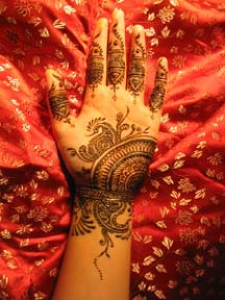 Henna tattoo design by Carrie Kan