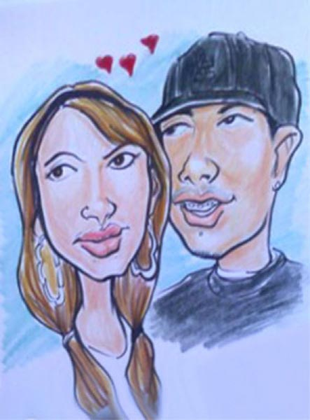 Party caricature by Devonah Blackwell