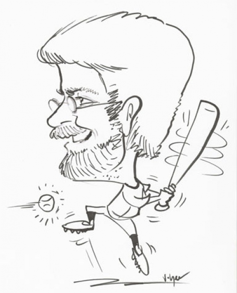 Party caricature by Vince Yee